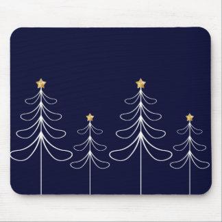 Mousepad Azul minimalista elegante do design da árvore de