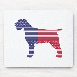 Mousepad Azul vermelho do cão patriótico apontar Griffon