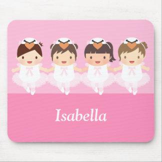 Mousepad Bailarina bonito do balé da cisne para meninas