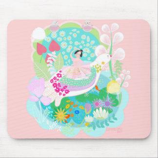 Mousepad Bailarina com a almofada de rato da ilustração da