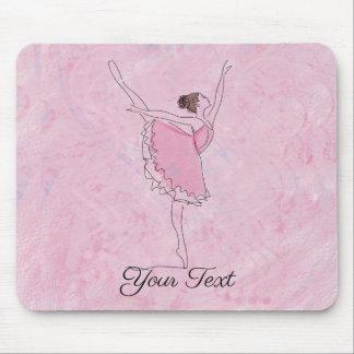 Mousepad Bailarina cor-de-rosa da fantasia