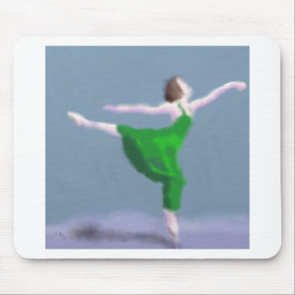Mousepad Bailarina na arte verde