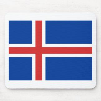 Mousepad Baixo custo! Bandeira de Islândia