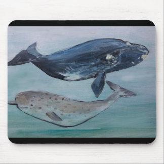 Mousepad Baleias que pintam o tapete do rato