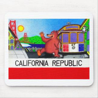 Mousepad Bandeira 2 do urso de San Francisco Califórnia