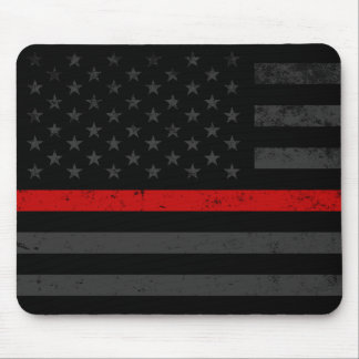 Mousepad Bandeira afligida obscuridade do bombeiro