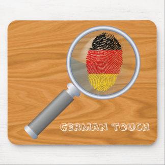 Mousepad Bandeira alemão da impressão digital do toque