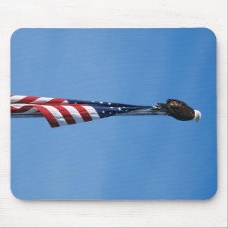 Mousepad Bandeira americana da águia americana - tapete do