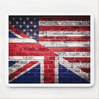 Mousepad Bandeira americana e britânica