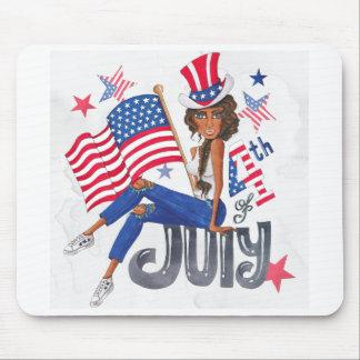 Mousepad Bandeira americana julho patriótico dos EUA