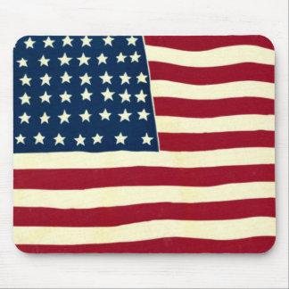 Mousepad Bandeira americana patriótica do vintage, quarto