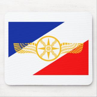 Mousepad Bandeira Assyrian, bandeira Chaldean, bandeira de