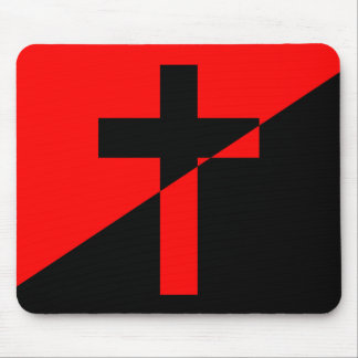 Mousepad Bandeira cristã da cristandade da anarquia do