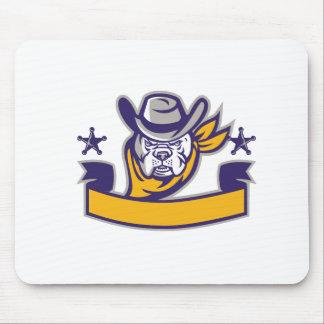Mousepad Bandeira da cabeça do vaqueiro do xerife do