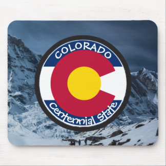 Mousepad Bandeira da circular de Colorado