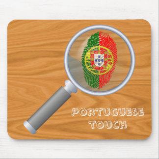 Mousepad Bandeira da impressão digital do toque do