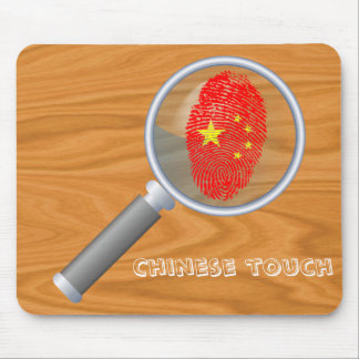 Mousepad Bandeira da impressão digital do toque do chinês