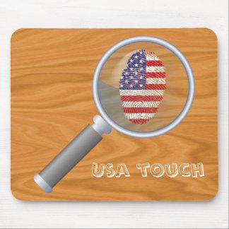 Mousepad Bandeira da impressão digital do toque dos EUA