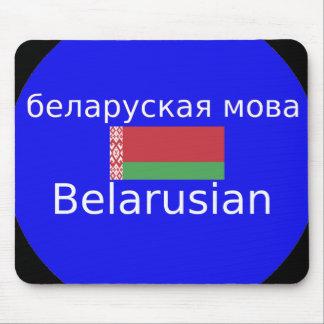 Mousepad Bandeira de Belarus e design da língua