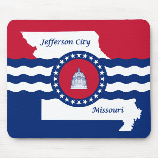 Mousepad Bandeira de jefferson city, Missouri