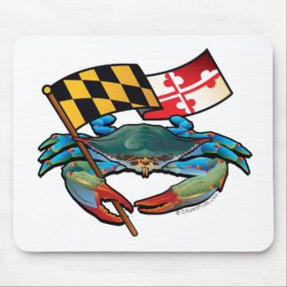 Mousepad Bandeira de Maryland do caranguejo azul