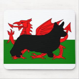 Mousepad bandeira de wales do silo do corgi de galês do
