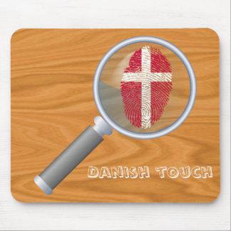 Mousepad Bandeira dinamarquesa da impressão digital do