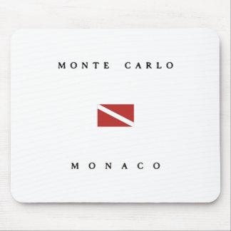 Mousepad Bandeira do mergulho do mergulhador de Monte - de