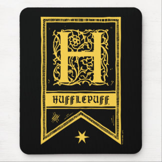 Mousepad Bandeira do monograma de Harry Potter | Hufflepuff