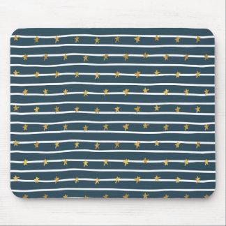 Mousepad Bandeira dos Estados Unidos azul branca do ouro