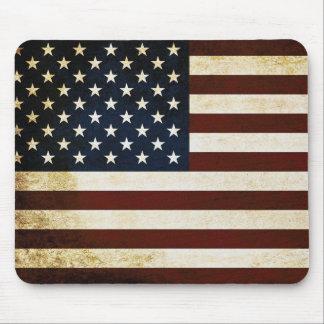 Mousepad Bandeira dos EUA do vintage