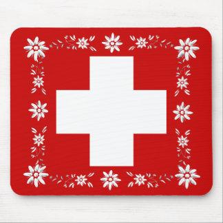 Mousepad Bandeira e edelweiss suíços 2