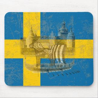 Mousepad Bandeira e símbolos da suecia ID159