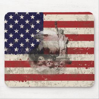 Mousepad Bandeira e símbolos dos Estados Unidos ID155
