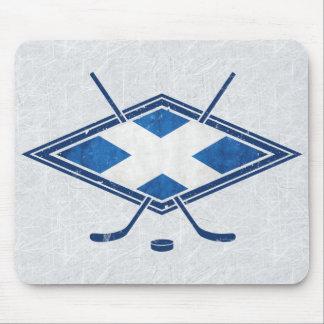 Mousepad Bandeira escocesa Mousemat do hóquei em gelo