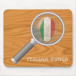 Mousepad Bandeira italiana da impressão digital do toque