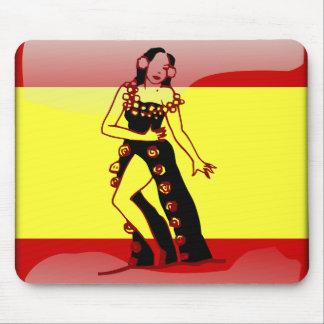 Mousepad Bandeira lustrosa espanhola