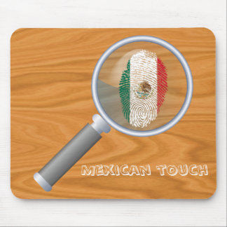 Mousepad Bandeira mexicana da impressão digital do toque