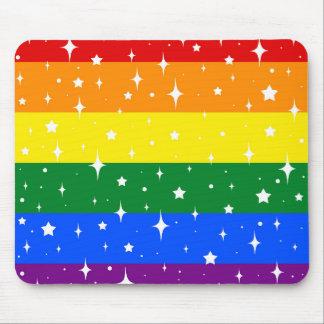 Mousepad Bandeira Sparkly do arco-íris