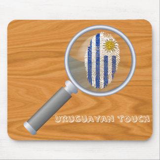 Mousepad Bandeira uruguaia da impressão digital do toque