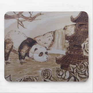 Mousepad Banho preguiçoso da panda