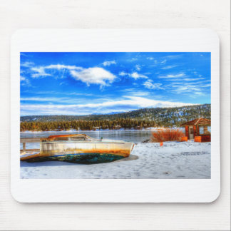 Mousepad Barco na neve no lago big Bear, Califórnia