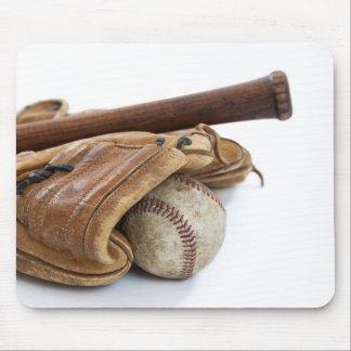 Mousepad Basebol e bastão do vintage