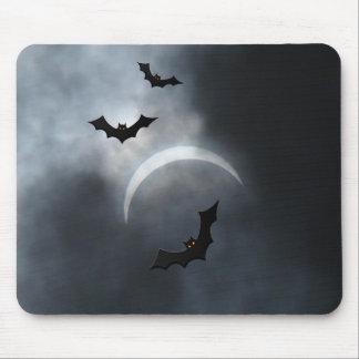 Mousepad Bastões assustadores do Dia das Bruxas no eclipse