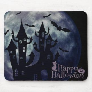 Mousepad Bastões do Dia das Bruxas e casa assustadores