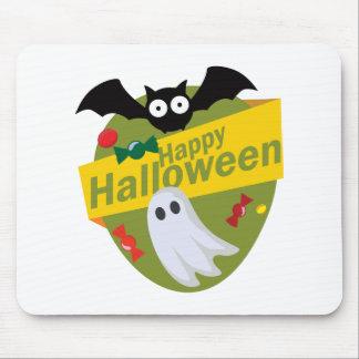 Mousepad Bastões e fantasmas felizes do Dia das Bruxas