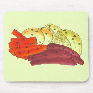 Mousepad Batata irlandesa da couve da carne em lata do dia