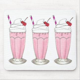 Mousepad Batido cor-de-rosa Foodie do sorvete da agitação