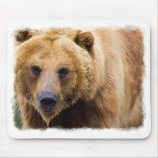 Mousepad Beira grande do branco do urso de urso