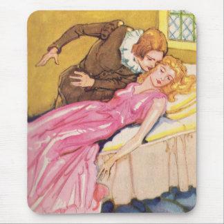 Mousepad Bela Adormecida de beijo do príncipe encantamento
